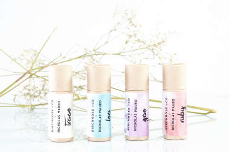 Plant-Based Lip Care Cosmetics - Birchrose + Co's Organic Lip Balm Range Boasts Natural Ingredients