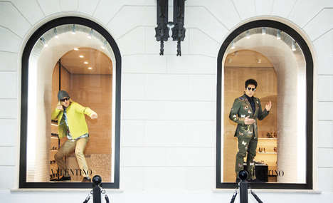 Cinematic Fashion Mannequins - These Valentino x Zoolander Mannequins Celebrate the Comedy Sequel