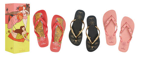 Luxe Sandal Collaborations - The Charlotte Olympia x Havaianas Range Boasts Chic Summer Footwear