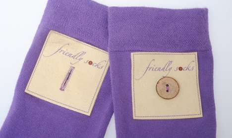 Buttoned Bamboo Socks - The Friendly Socks Can Be Buttoned Together to Prevent Misplacing Them