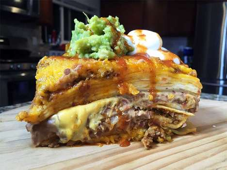 Gluttonous Taco Lasagnas - This Italian Noodle Dish Features Layers of Taco Bell Burritos