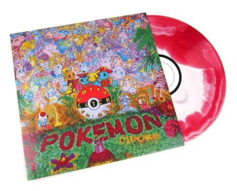 Anime Monster Vinyls - The Pokemon Blue and Red Soundtracks Feature a Beatles-Inspired Design