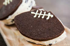 Football Ice Cream Sandwiches