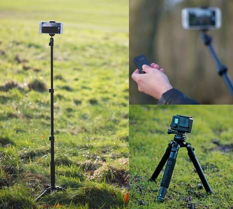 Selfie-Centric Tripods - The MonoShot Selfie Tripod Works With Both Smartphones and Action Cameras