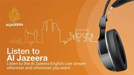 Low-Bandwidth News Apps - The Al Jazeera Audio App Broadcasts Audio From Television Broadcasts