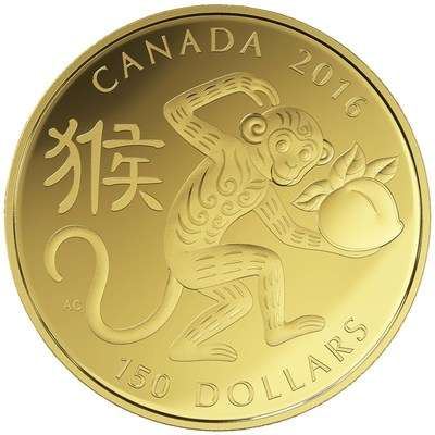 Lunar New Year Coins - These CIBC Monkey Coins are an Honorable Tribute to Chinese New Year 2016