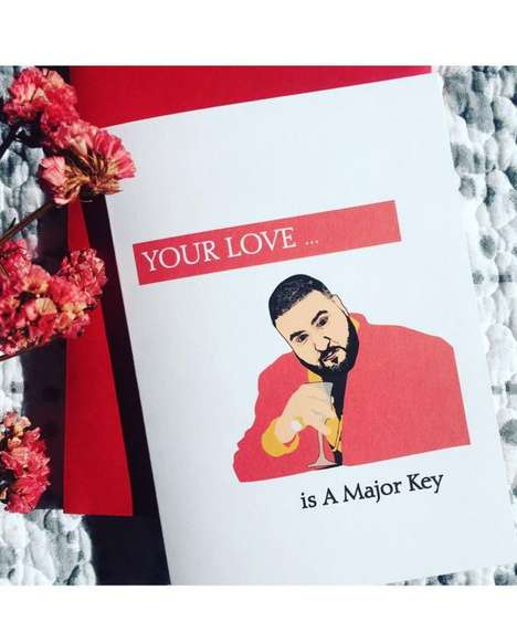 Inspirational Hip-Hop Valentines - This DJ Khaled Valentine's Day Card Pokes Fun at the Rap Producer