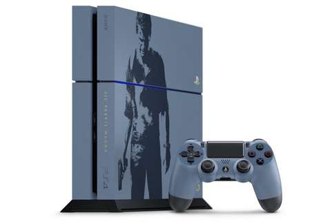 Silkscreened Gaming Consoles - This Limited-Edition PS4 Celebrates the Release of Uncharted 4