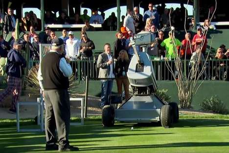 Hole-in-One Robotic Golfers - The LDRIC Robot Golfer Takes a Perfect Golf Shot at the Phoenix Open