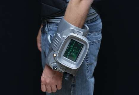 DIY Gamer Armbands - This DIY Pipboy 3000 is Created Using a Raspberry Pi Mini PC