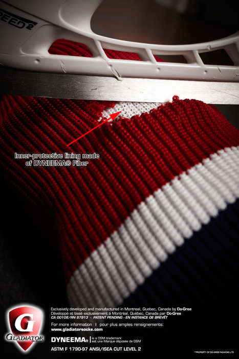 Cut-Resistant Hockey Socks - The 'Gladiator Socks' Protect Against Hockey Injuries