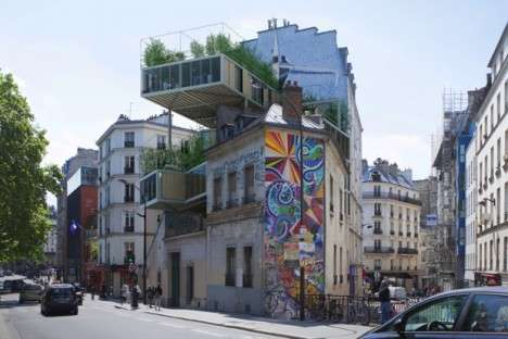 Prefabricated Parisian Apartments - These Prefab Structures Help to Maximize Space in Paris