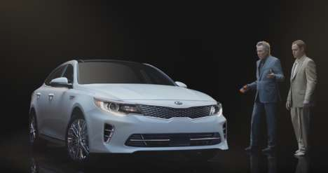 In-Closet Car Commercials - This Kia Super Bowl Ad Showcases the Optima in a 'Walken Closet'