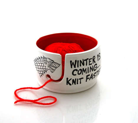 Nerdy Knitting Bowls - This Ceramic Crochet Accessory Keep String Untangled
