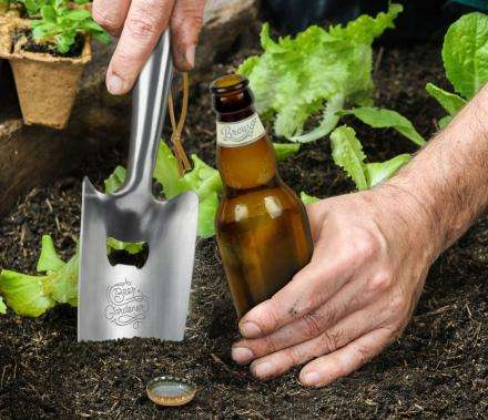 Bottle-Popping Shovels - The Fred & Friends 'BEER GARDENER' Garden Trowel Enables Libations Outdoors