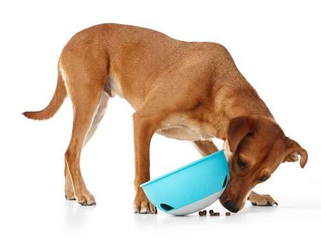 Interactive Toy Dog Bowls - The 'PAW5' Rock 'N Roll Dog Bowl Encourages Dogs to Play to Eat