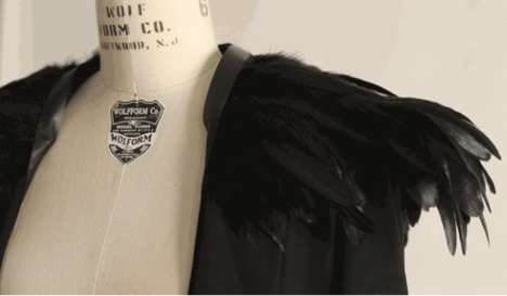 Reactive Feather Jackets - This Feather-Covered Jacket Will Twitch When the Wearer is Facing North
