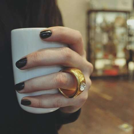 Engagement Ring Mugs - This Coffee Cup Handle is Cleverly Shaped like a Gold Wedding Band