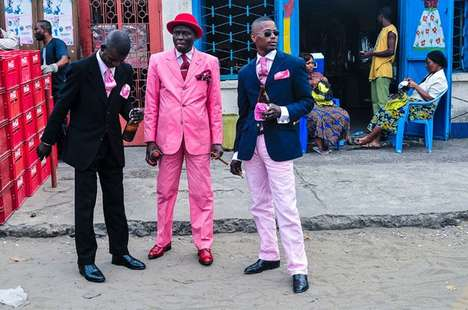 African Gentleman Photography - Daniele Tamagni's 'Gentleman of Bacongo' Series Profiles Dandy Looks