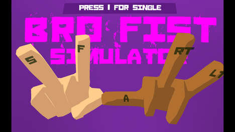 Bumping Fits Games - The Bro Fist Simulator Teaches Players How to Properly Salute Each Other