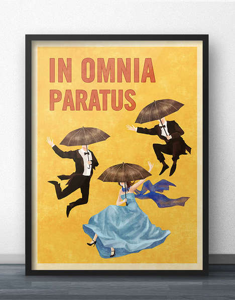 Vintage Sitcom Fan Posters - Gilmore Girls Fans Celebrate the Setting With Antiquated Placard