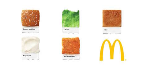 Fast Food Paint Pairings - This McDonald's Food Ad is Presented as a Pantone Color Sample