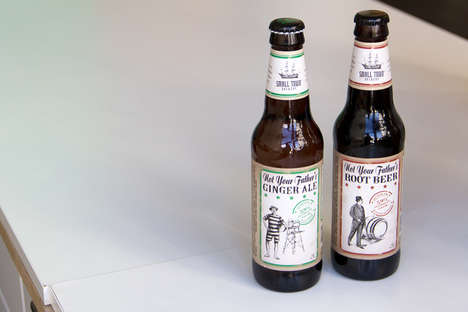 Boozy Root Sodas - The Small Town Brewery Offers Adult Root Beer with Lawless Branding