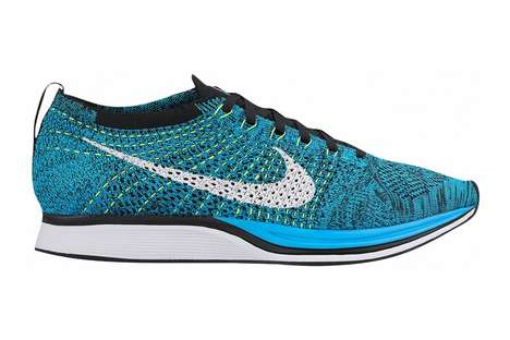 Knitted Sock Sneakers - The Flyknit Racer Athletic Shoes Offer a Featherweight and Formed Fit