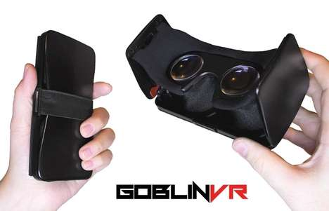 Flatpack VR Headets - The 'Goblin' Folding VR Viewer Collapses for Easy Transportation