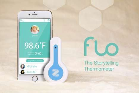 Smart Contactless Thermometers - The 'Flo' Body Temperature Tracker is Suitable for Kids and Adults