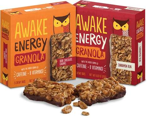 Caffeinated Granola Bars - Awake Chocolate's Granola Snack Bars Deliver Energy and B Vitamins