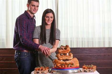 Yorkshire Pudding Wedding Cakes - Food Brand Aunt Bessie's Gifted a Couple with Their Dream Cake