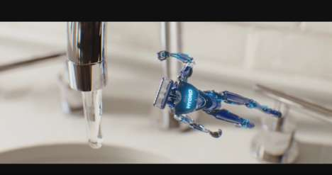 Robotic Razor Ads - This Schick Super Bowl Commercial Turns Razors into Battling Machines