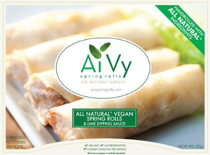 Compostable Packaging Frozen Snacks - Ai Vy Spring Rolls are Hand-Rolled Using Natural Ingredients