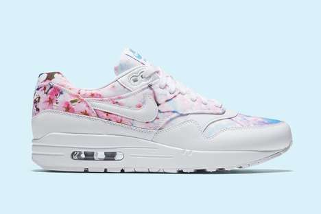 Blossoming Tree Sneakers - The Nike Air Max 1 Has Been a Cherry Blossom Design for the Spring Season