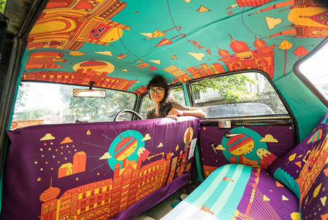 Taxi Cab Art Projects - The 'Taxi Fabric' Initiative Promotes the Work of Indian Artists