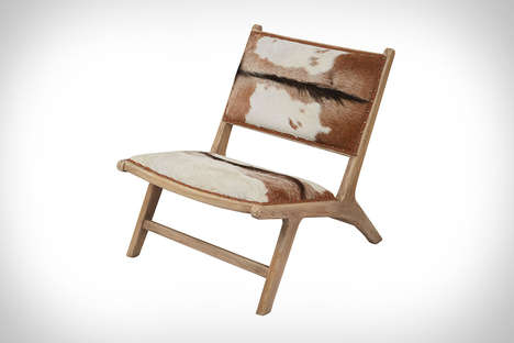 Luxurious Goatskin Loungers - This Stylish Lounge Chair is Made from Natural Goat Hide