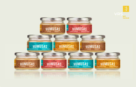 Glass Jar Hummus Branding - This Hummus Branding Opts for Glass Jars Over Harmful Plastics