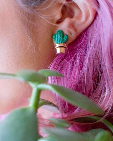 Charming Cactus Accessories - INU INU's Cactus Jewelry Collection Features Earrings and Necklaces