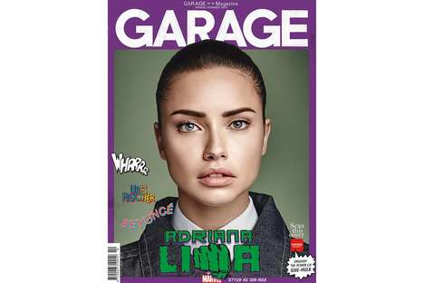 Superhero Model Covers - The Tenth Issue of Garage Magazine Features Models as Heroes