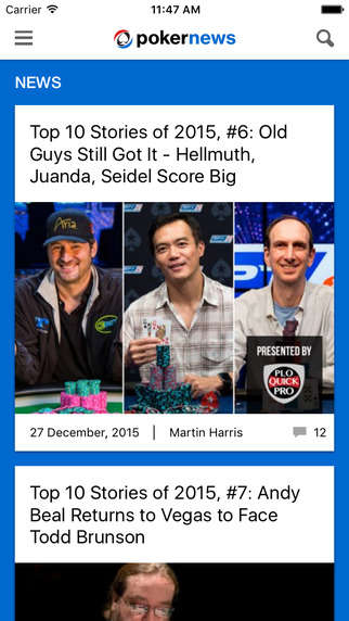 Poker Enthusiast Apps - The PokerNews App Lets Poker Fans Engage With the Wider Poker Community