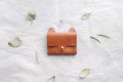 Cute Critter Wallets - These Leather Coin Purses are Shaped Like Adorable Feline Faces