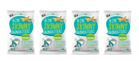 Health-Conscious Superfood Snacks - The Skinny Ancient Grains Sticks are Made with Protein Quinoa