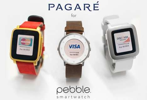 Payment-Enabling Watch Straps - The Pagare Strap for the Pebble is Packed with Payment Technology