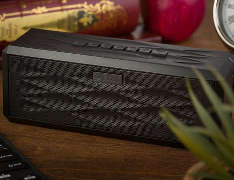 Enhanced Battery Beat Blasters - The SHARKK Portable Boombox Provides 18 Hours of Playback
