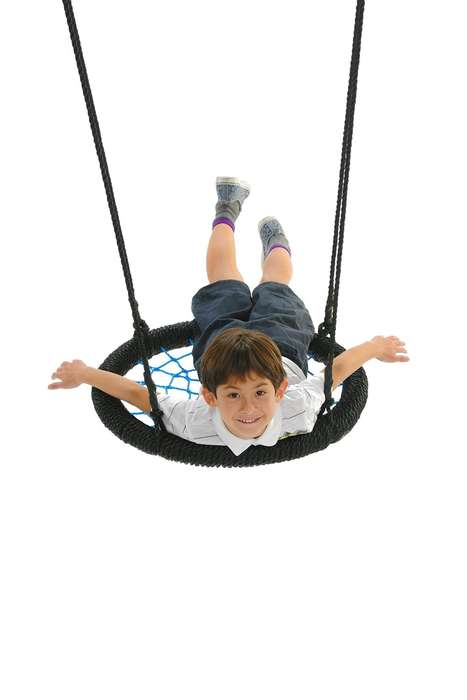 Multifunctional Web-Seated Swings - The Spider Web Playground Swing Has Multiple Options for Play