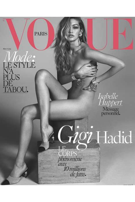 Stripped Down Supermodel Covers - Gigi Hadid Bares it All in a Tasteful Spread for Vogue France
