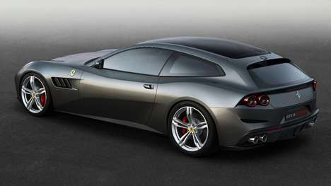 Intimidating Sports Cars - The GTC4Lusso is a Ferrari GT That Offers Monstrous Power and Performance