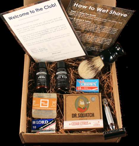Antiquated Shaving Subscriptions - The Chisel Shave Club Packs Time-Honored Cosmetics for Men