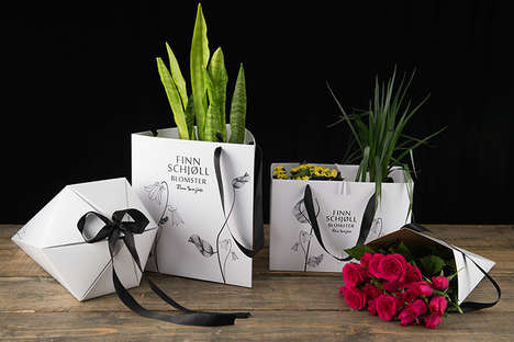 Boxy Flower Packaging - Linnea Akerberg Revolves Her School Project Around Swedish Company Swedbag